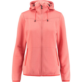 Meru Kalamata Fleece Hoodie Women emberglow